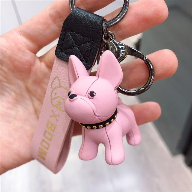 Frenchie World Shop as photos 4 Limited Edition Vinyl Frenchie Key Chains