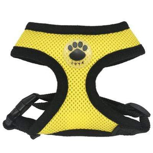 "Frenchie World Shop ""LOVE"" Paw Mesh Harness"