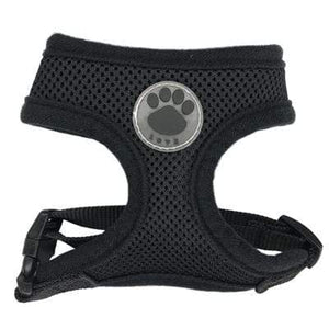 "Frenchie World Shop Black / XS ""LOVE"" Paw Mesh Harness"