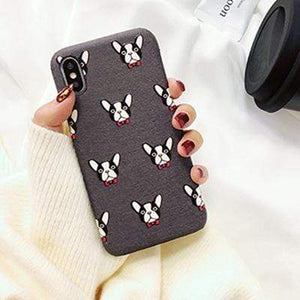 Frenchie World Shop Human accessories gray / i6 6s New iPhone Frenchie covers