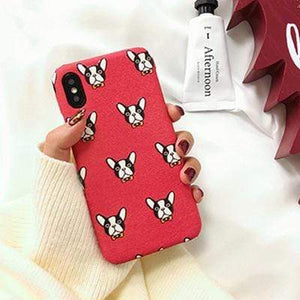 Frenchie World Shop Human accessories red / i6 6s New iPhone Frenchie covers