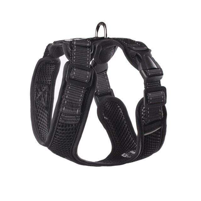 Frenchie World Shop black / L Chest 48-60cm No-pull Breathable French Bulldog Harness