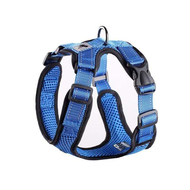 Frenchie World Shop blue / L Chest 48-60cm No-pull Breathable French Bulldog Harness