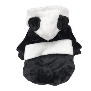 Frenchie World Shop as pictures / L Panda-shaped Double-sided Plush Designer Hoodie For Dogs French Bulldog Hoodie Clothes Pet Sweatshirt Dog Halloween Sweater Coat