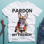 teelaunch T-shirt Pardon My French Mens Tee