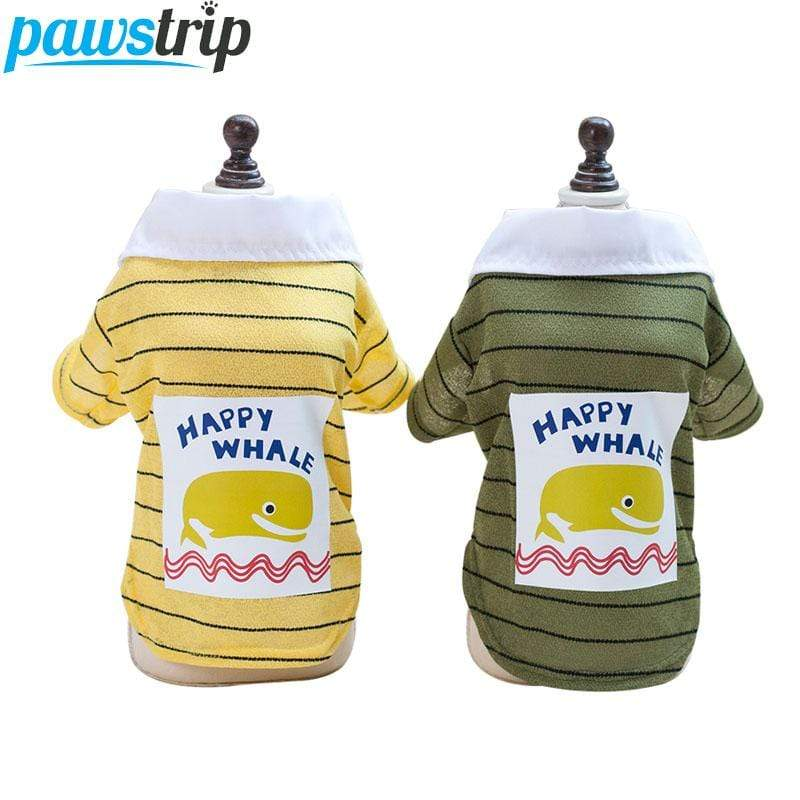 Frenchie World Shop pawstrip Cute Small Dog Shirt Pet Summer Dog Clothes Chihuahua Yorkie Puppy Coat S-XXL
