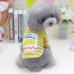 Frenchie World Shop Yellow / S pawstrip Cute Small Dog Shirt Pet Summer Dog Clothes Chihuahua Yorkie Puppy Coat S-XXL