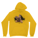 alloverprint.it Apparel Gold / XS Peeking Frenchie Classic Adult Hoodie