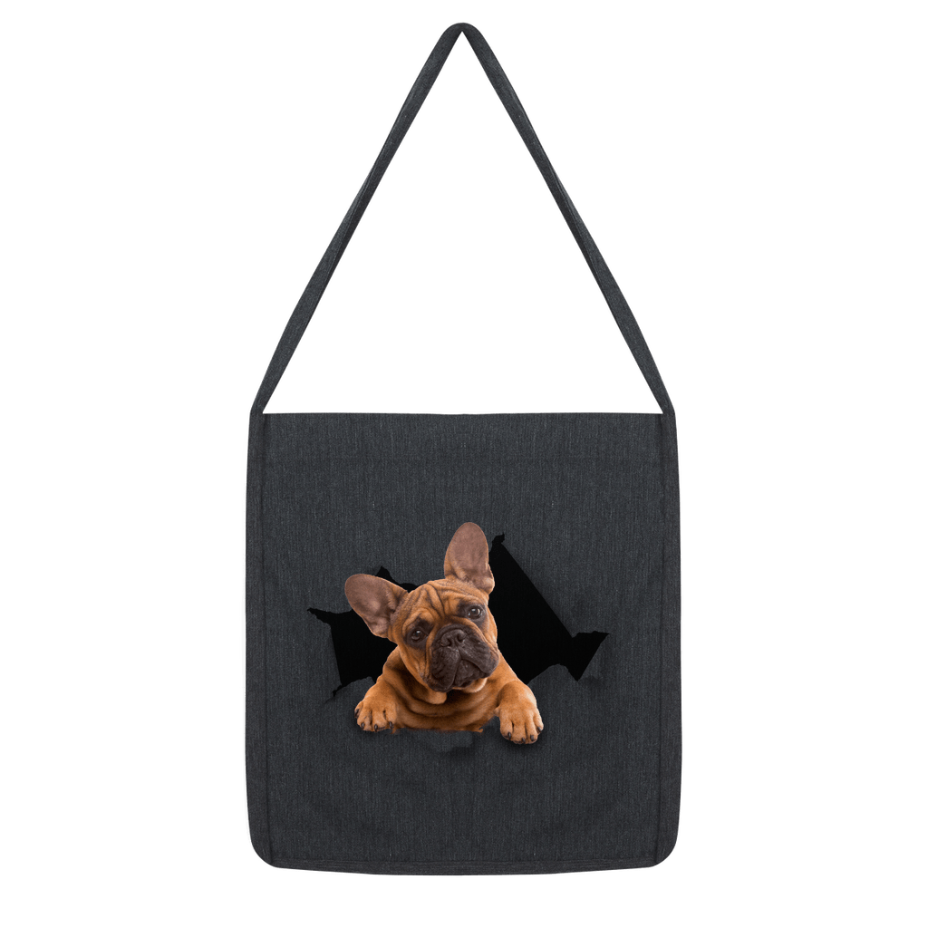 alloverprint.it Accessories Melange Black Peeking Frenchie Classic Tote Bag