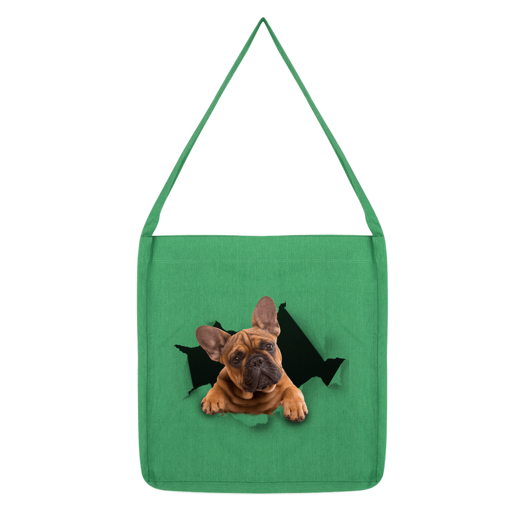 alloverprint.it Accessories Melange Green Peeking Frenchie Classic Tote Bag