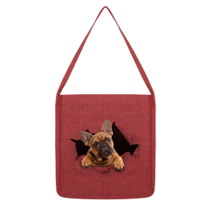 alloverprint.it Accessories Melange Red Peeking Frenchie Classic Tote Bag