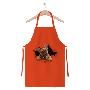 alloverprint.it Apparel Orange Peeking Frenchie Premium Jersey Apron