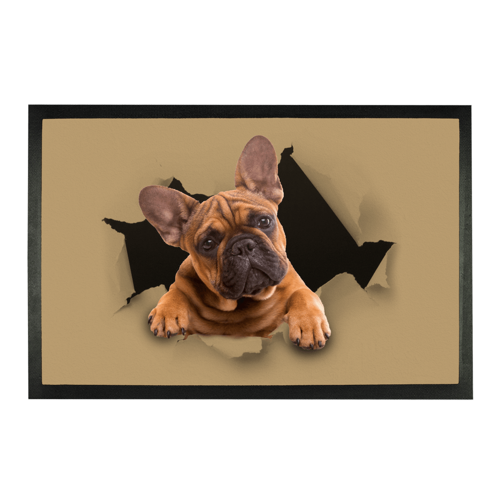 "alloverprint.it Accessories 15""x16.5"" Peeking Frenchie Sublimation Doormat"