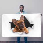 alloverprint.it Wall Decor 5FT X 3FT Peeking Frenchie Sublimation Flag