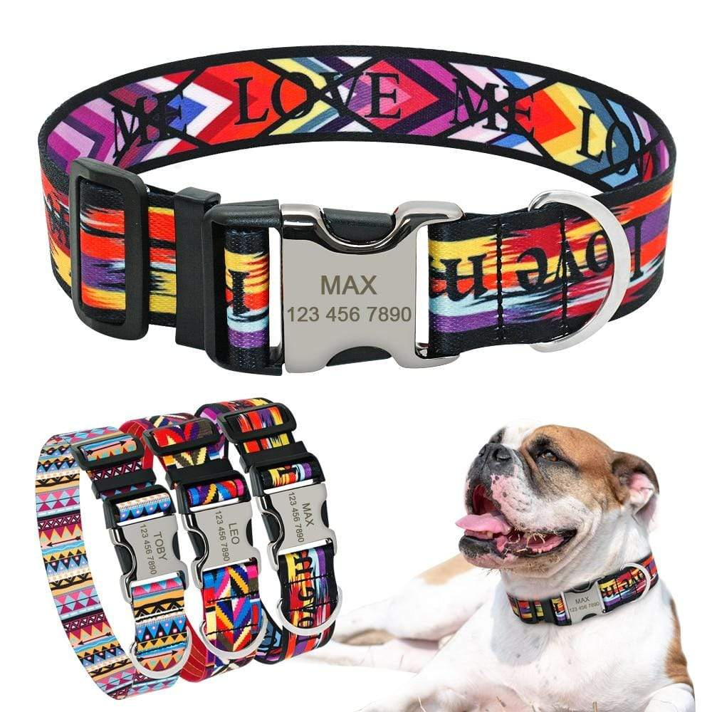 Frenchie World Shop Personalized Engraved Bulldog Collar