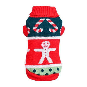 Frenchie World Shop R / XS / China Pet Cats Dogs Jersey Autumn Winter Christmas Sweater Large Pet Dog Snowman Sweaters Warm Cloth Puppy Cat Coat Jumper Knitwear