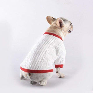 Frenchie World Shop White / M Pet Dog Spring Clothes for Small Dogs Clothing Puppy French Bulldog Warm Sweater Pug Costume Yorkshire Roupa Para Cachorro S-XL