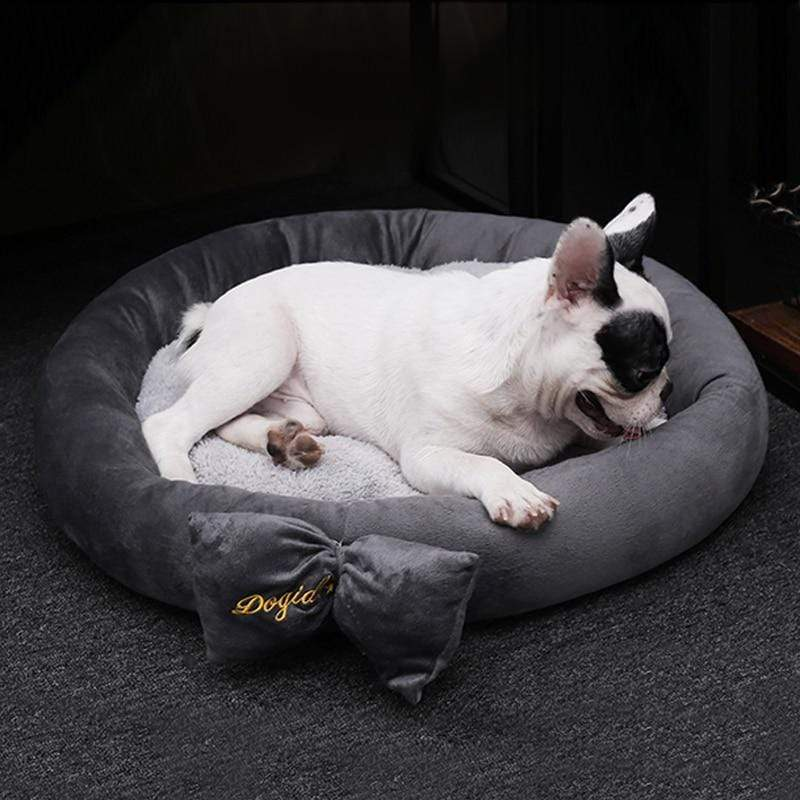 Frenchie World Shop Pet Warm Winter Bow Dog Beds For Small Dogs Pets Bed Princess Cat Bed Detachable Breathable Cat's Nest Pet House Dogs Beds Nest