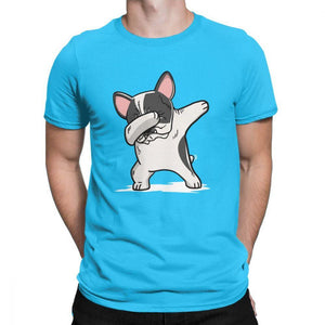 Frenchie World Shop Human clothing Pied French Bulldog Dabbing t-shirt