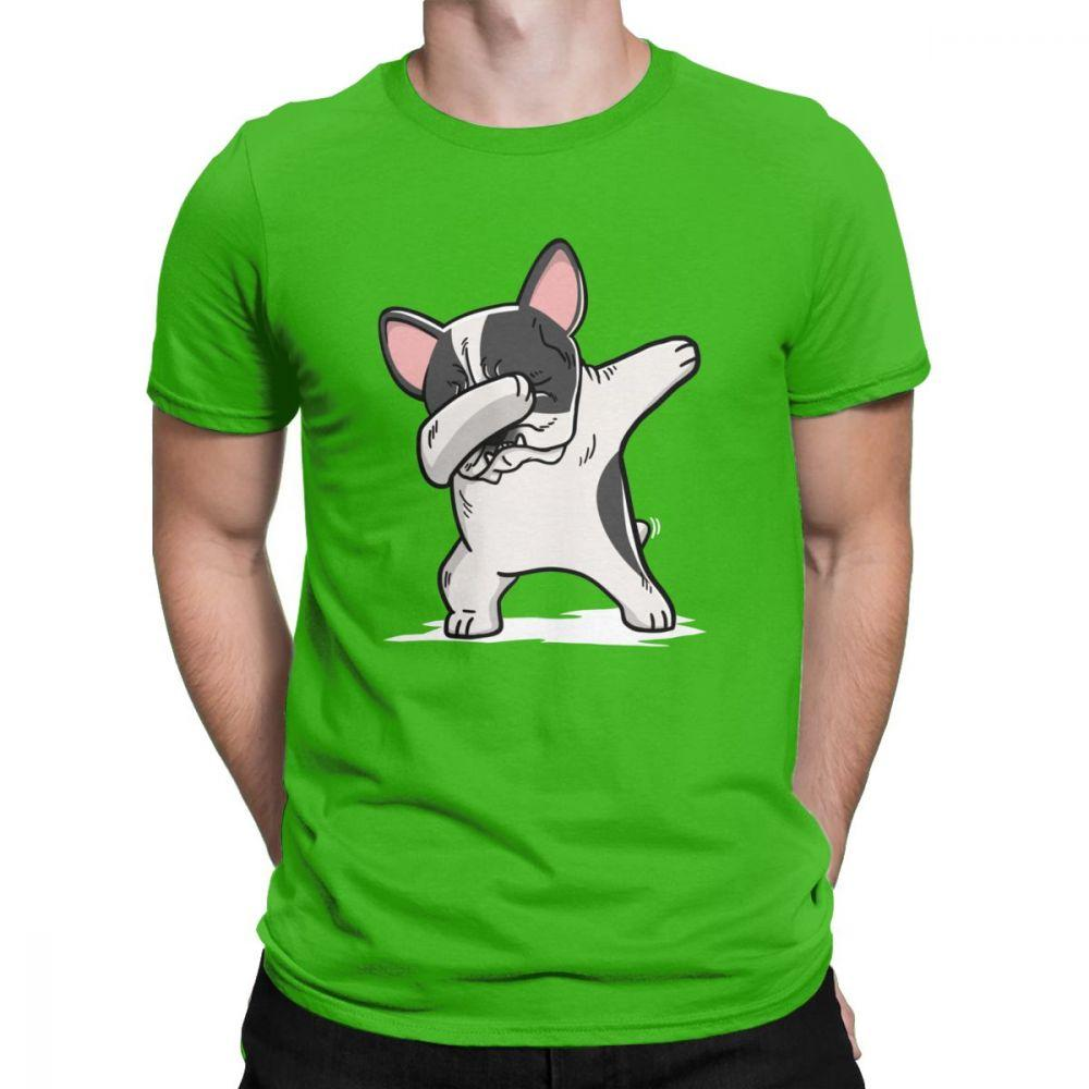 Frenchie World Shop Human clothing green / XS Pied French Bulldog Dabbing t-shirt