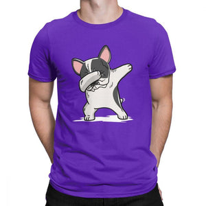 Pied French Bulldog Dabbing t-shirt
