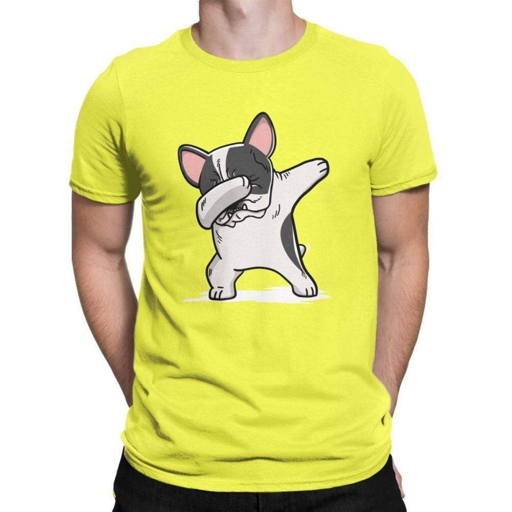 Frenchie World Shop Human clothing Yellow / XS Pied French Bulldog Dabbing t-shirt