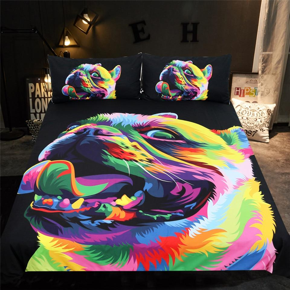 Frenchie World Shop Pop Art French Bulldog Bedding Set