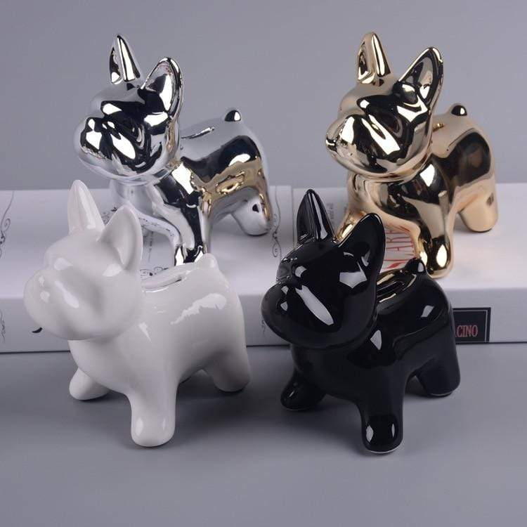 Frenchie World Shop Pottery pug dog cans, Nordic cartoon puppies, money saving canister, animal Bulldog savings pot, home coin change pot.