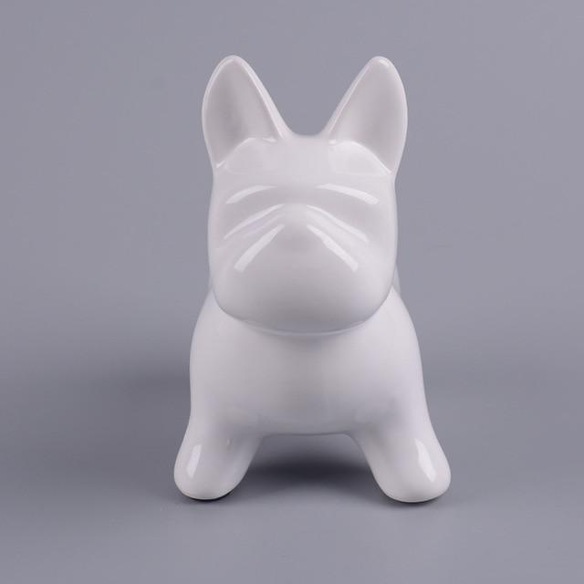 Frenchie World Shop A Pottery pug dog cans, Nordic cartoon puppies, money saving canister, animal Bulldog savings pot, home coin change pot.