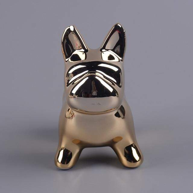 Frenchie World Shop C Pottery pug dog cans, Nordic cartoon puppies, money saving canister, animal Bulldog savings pot, home coin change pot.