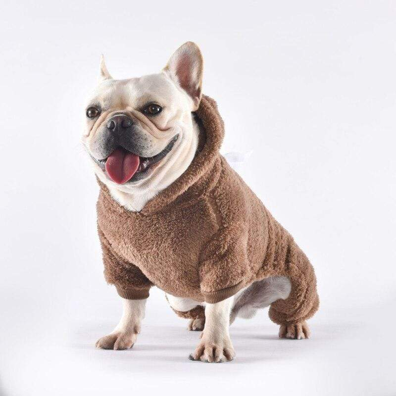 Frenchie World Shop Pug Clothes Winter French Bulldog Clothing Warm Dog Pajamas Sleepwear Jumpsuit Poodle Schnauzer Pet Costume Outfit Dropshipping