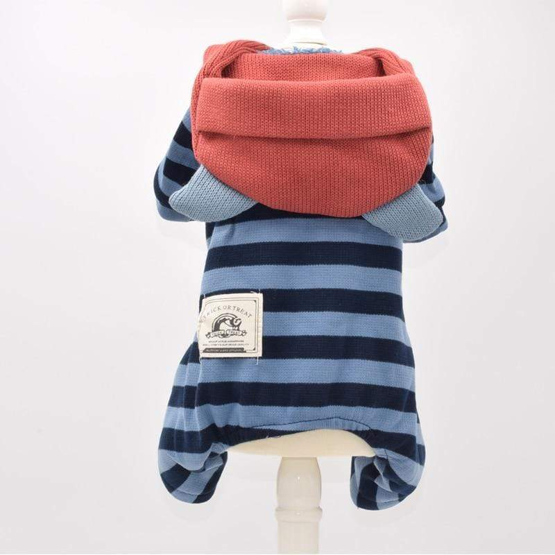 Frenchie World Shop Red & Blue Striped Dog Outerwear