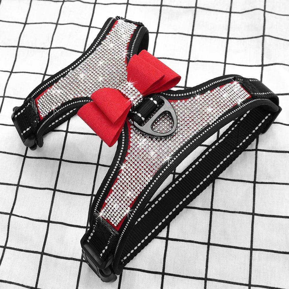 Frenchie World Shop Reflective French Bulldog Rhinestone Harness