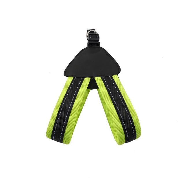 Frenchie World Shop Green / S Reflective Mesh Dog Harness