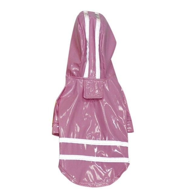 Frenchie World Shop Pink / L Reflective Safety Frenchie Raincoat