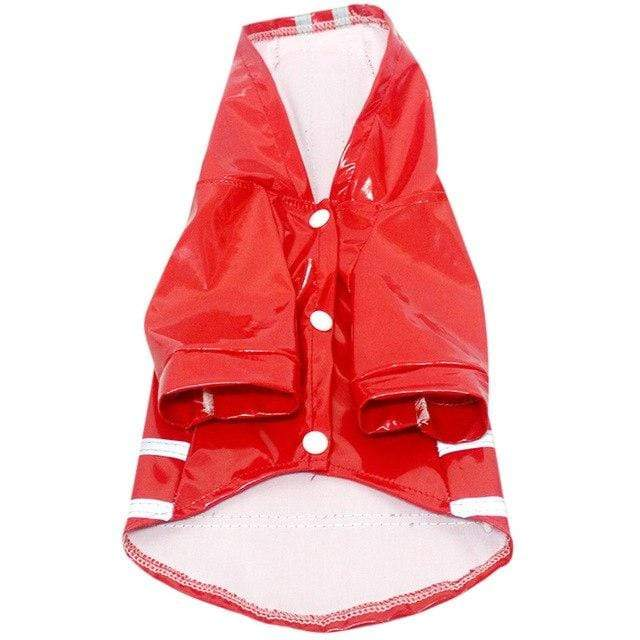 Frenchie World Shop Red / L Reflective Safety Frenchie Raincoat