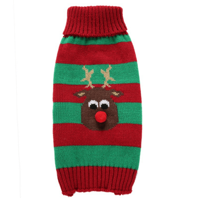 Frenchie World Shop Red / L Reindeer Christmas Knitted Vest