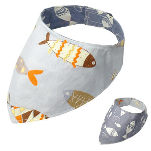 Frenchie World Shop Gray / S Reversible Dog Bandana