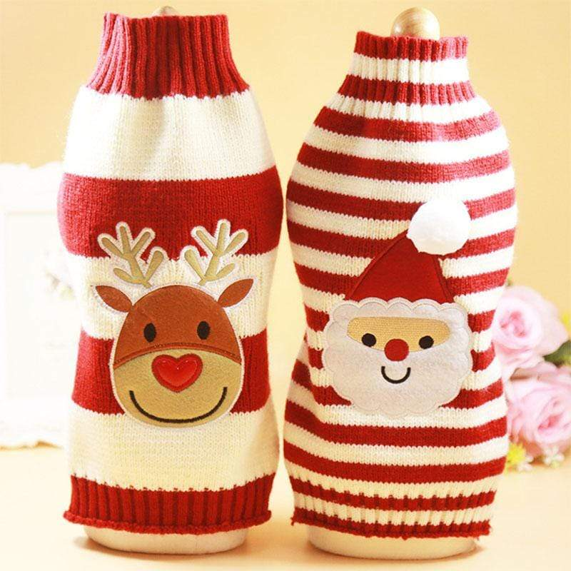 Frenchie World Shop Santa Dog Clothes Winter Pets Dogs Clothing Christmas Dogs Sweaters Pet Hoodie New Year Clothes For Dog Chihuahua Pets Products