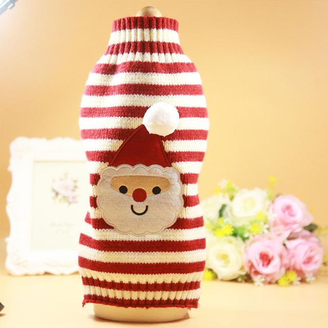 Frenchie World Shop Santa / L Santa Dog Clothes Winter Pets Dogs Clothing Christmas Dogs Sweaters Pet Hoodie New Year Clothes For Dog Chihuahua Pets Products