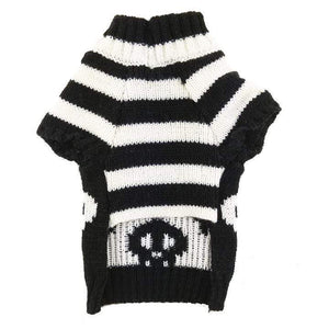 Frenchie World Shop Skulls Dog Knitted Sweater