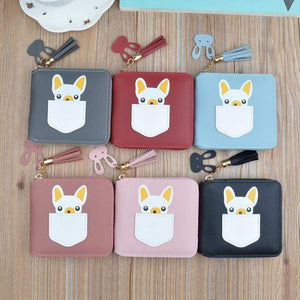 Frenchie World Shop Small French Bulldog Wallet Purse