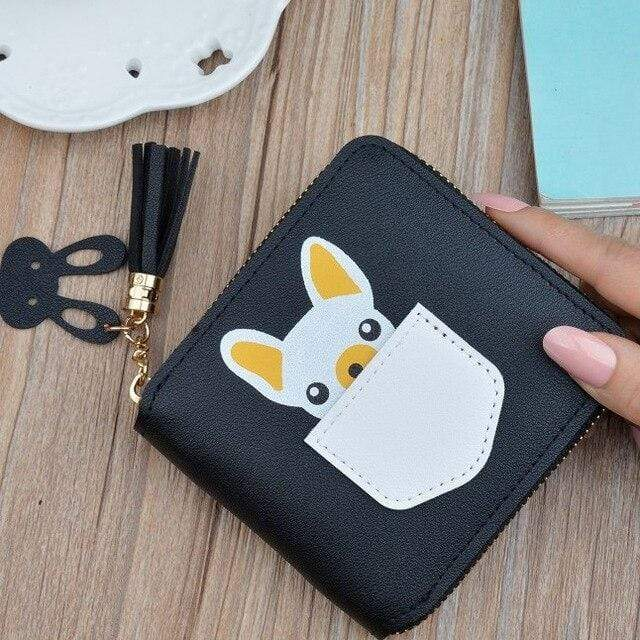 Frenchie World Shop Back Small French Bulldog Wallet Purse