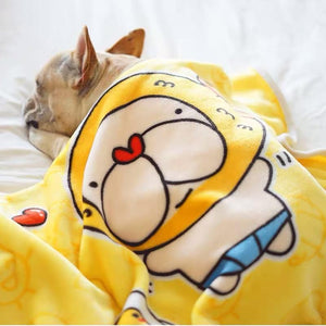 Frenchie World Shop Soft Premium Grade French Bulldog Blanket