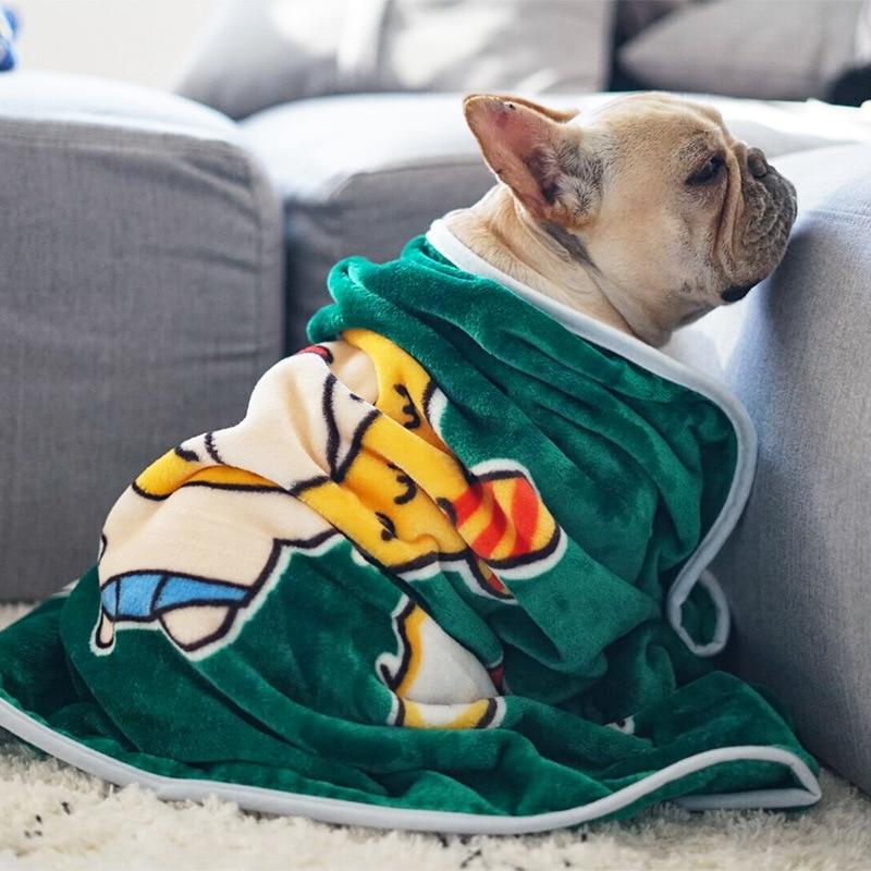 Frenchie World Shop Green / 100x70cm Soft Premium Grade French Bulldog Blanket