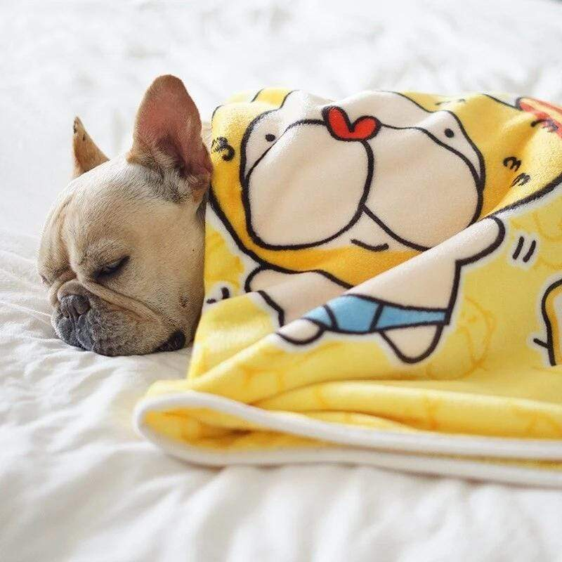 Frenchie World Shop Yellow / 100x70cm Soft Premium Grade French Bulldog Blanket