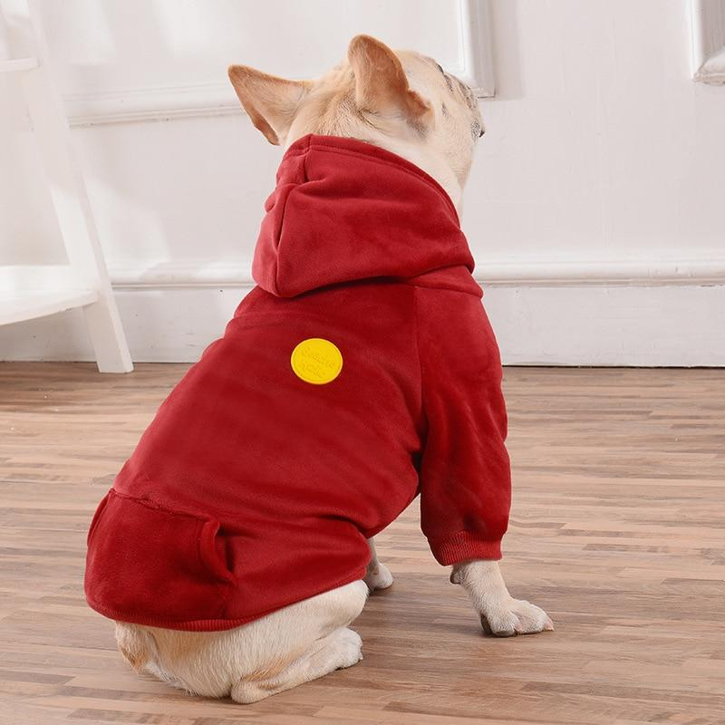 Frenchie World Shop Soft Velour Dog Hoodie by Frenchie World