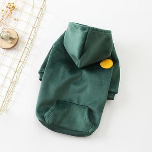 Frenchie World Shop Green / FB Waist58 Back35CM Soft Velour Dog Hoodie by Frenchie World