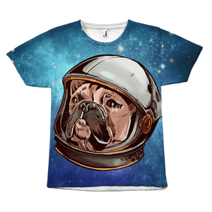 teelaunch All Over Print Space Frenchie All Over Unisex T-shirt / S Space Frenchie All Over Unisex T-shirt