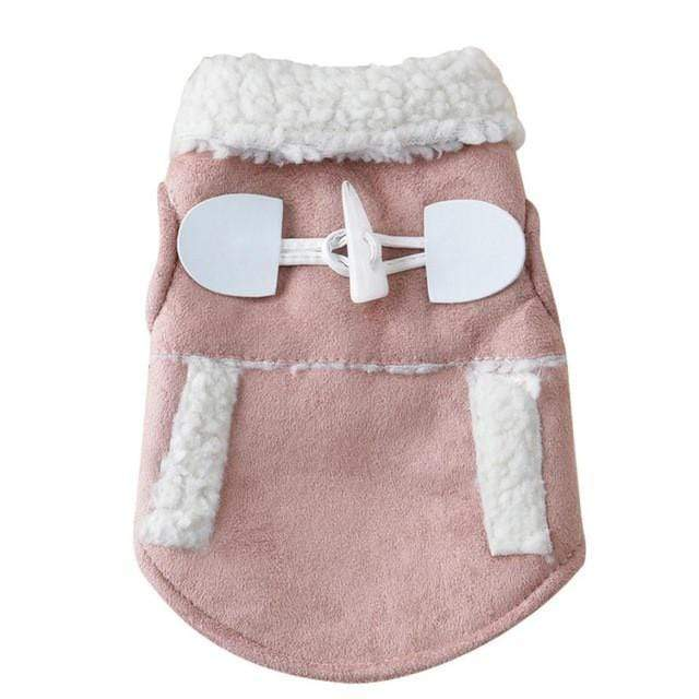 Frenchie World Shop Baby Pink / L Suede Winter Coat